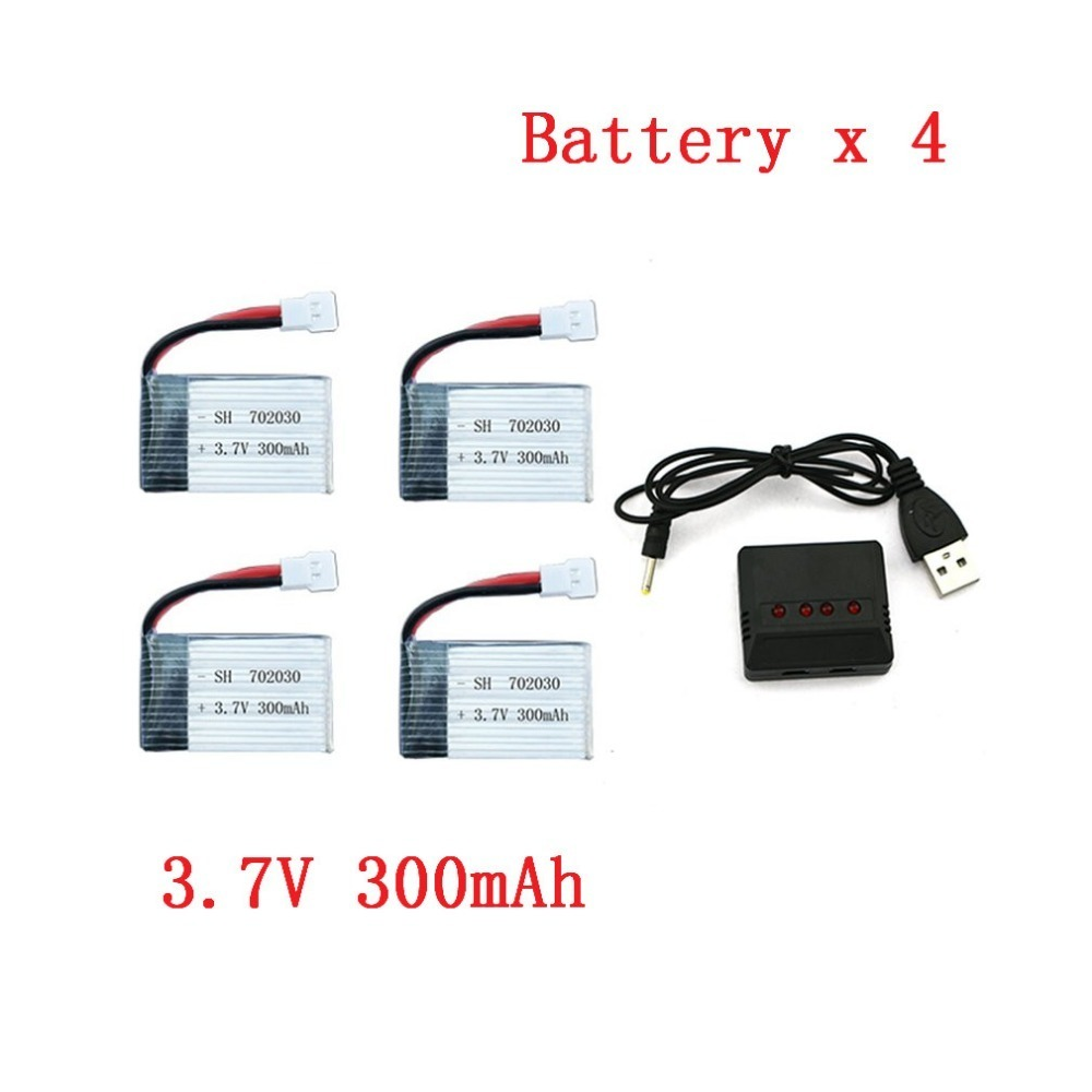 4pcs 3.7V 300mAh Battery For 702030 Helicopter Mini Aircraft Spare Parts Air Vehicle Backup Battery Helicopter Accessories
