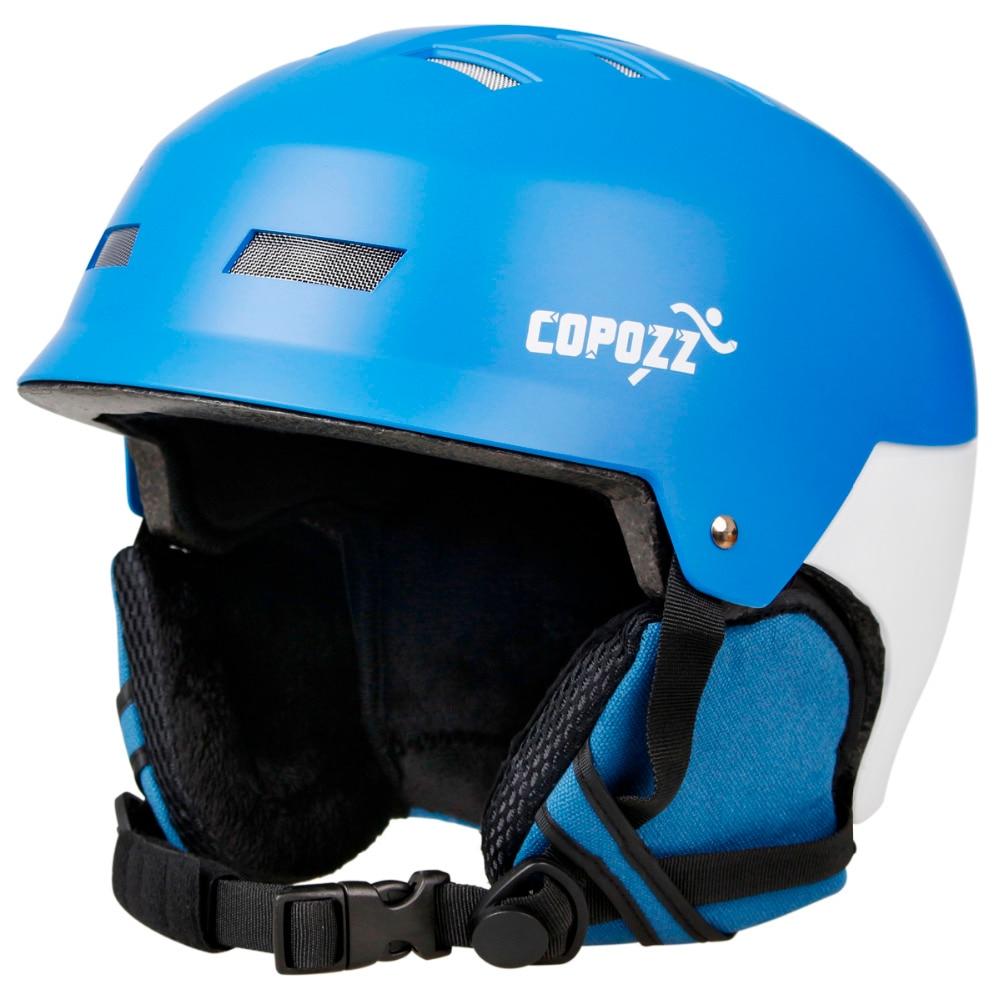 COPOZZ Ski Helmet Snowboard Motorcycle Skate Helmet for Adult Men Women Snow Sport Skiing Protection Safety Helmets nandn brand eps abs ski helmets cover motorcycle skiing helmets hats adult men women skiing snow sports skating safety helmets
