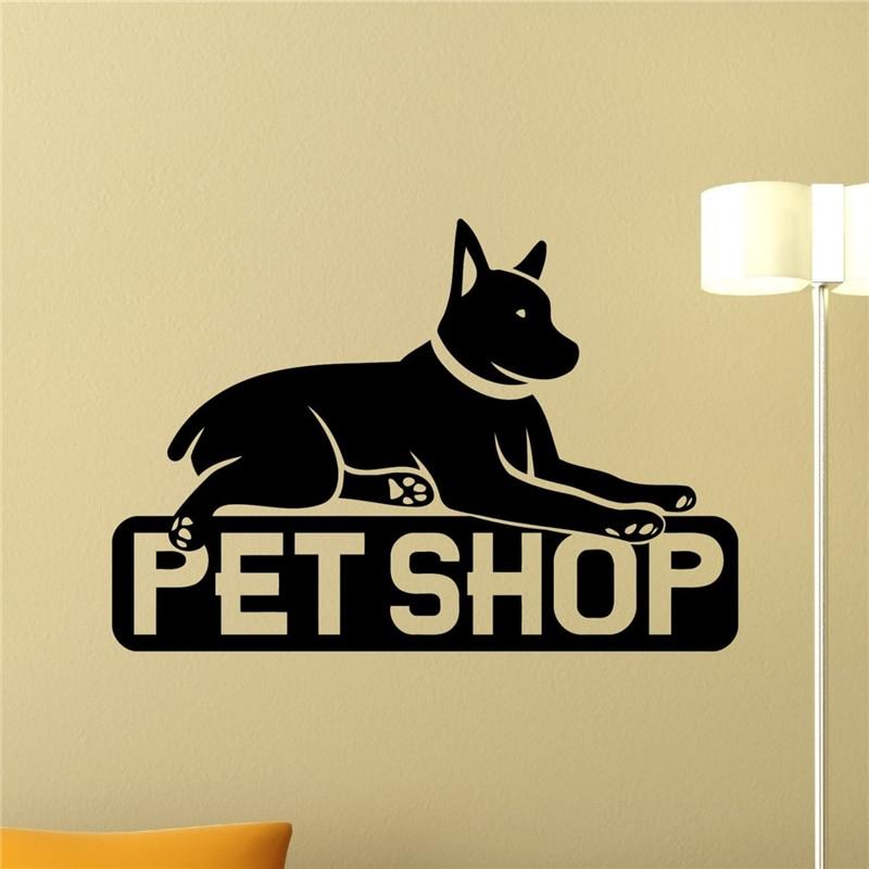 Pet Shop Wandtattoo Home Decor Wandaufkleber Tier Design Pet Shop Wandkunst Teen...