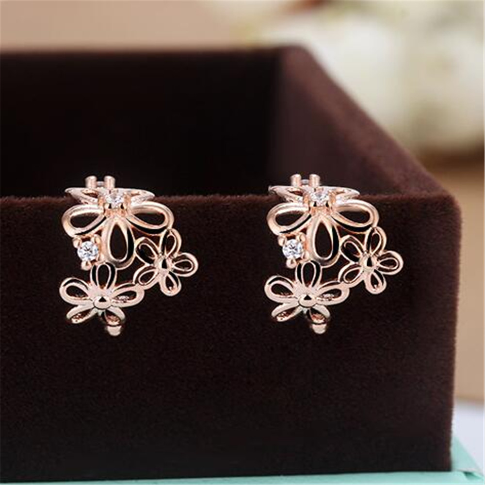 Beautiful Earrings Ear Cuff Jewelry Rose Gold Silver Color ...