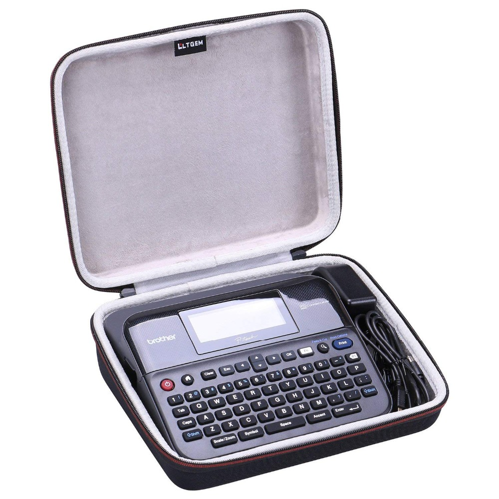 LTGEM Travel Carrying Case For Brother P-touch PTD600 PC Connectible Label Maker