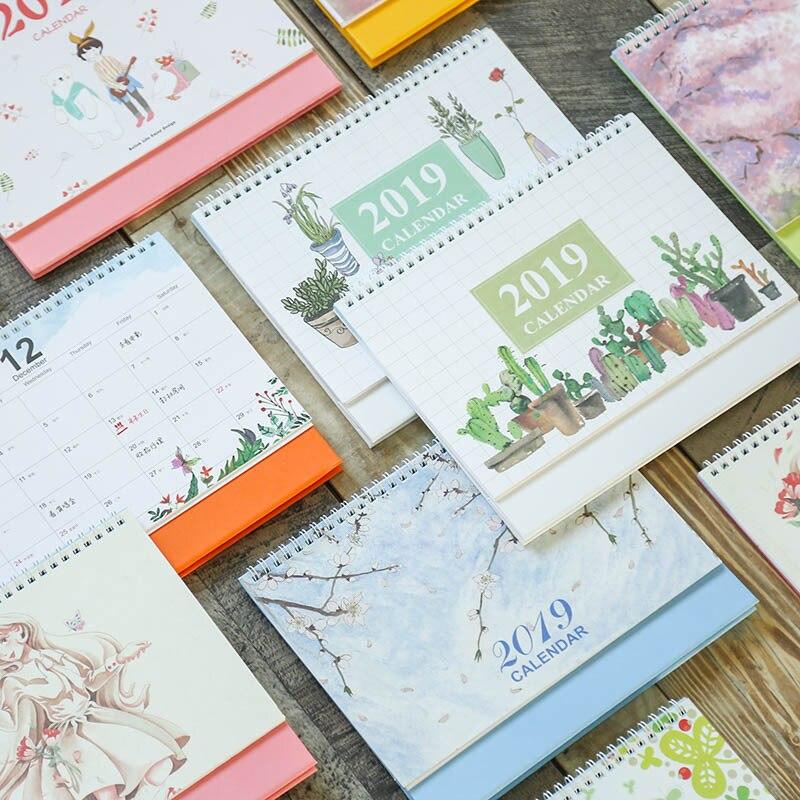 Calendars, Planners & Cards Calendar 2019 Chinese Ancient Watercolor Series Desk Calendar Diy Cartoon Table Calendars Daily Schedule Planner 2018.09~2019.12
