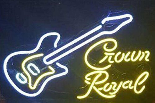 Custom Music Crown Royal Neon Light Sign Beer Bar