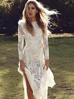 Saida De Praia Feminino 2019 Boho Dress Summer Bohemian Clothing Long White Lace Beach Tunics Large Sizes Maxi Womens Dresses