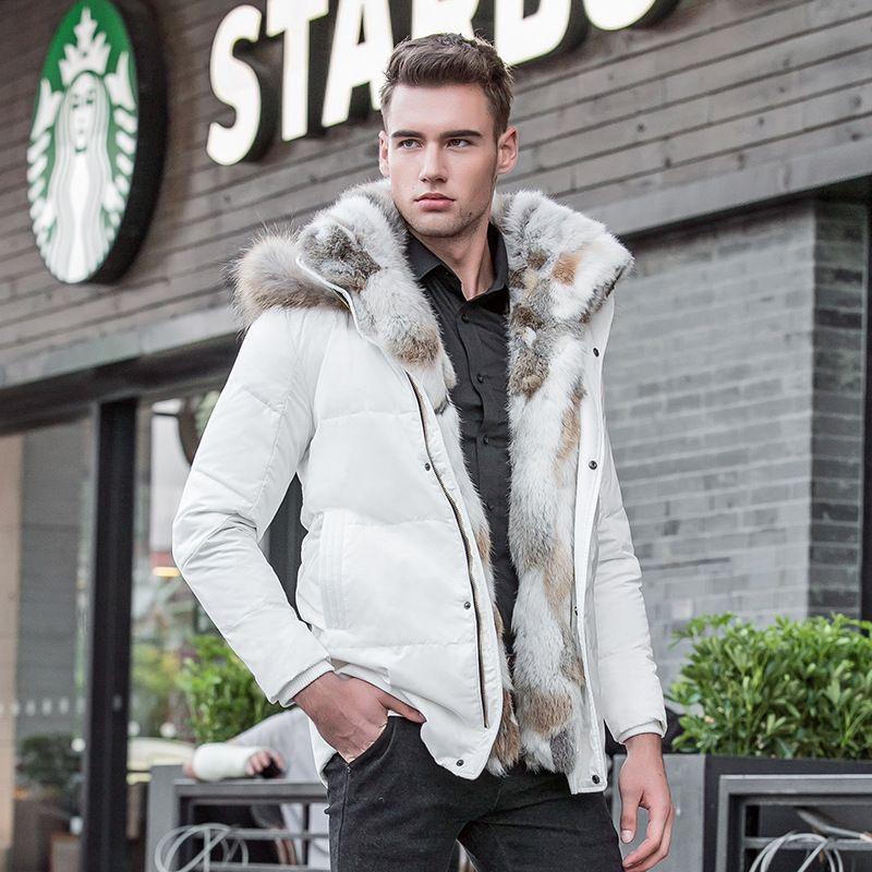 Plue size 5XL Mens Leisure Duck Down Jacket Winter Thick Hood Warm Waterproof Coat Fur Collar Military Overcoat jacket 082601