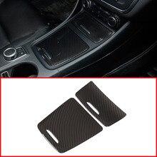 owntycar Carbon ABS Center Storage Box Panel Trim Ashtray Cover Car Stickers