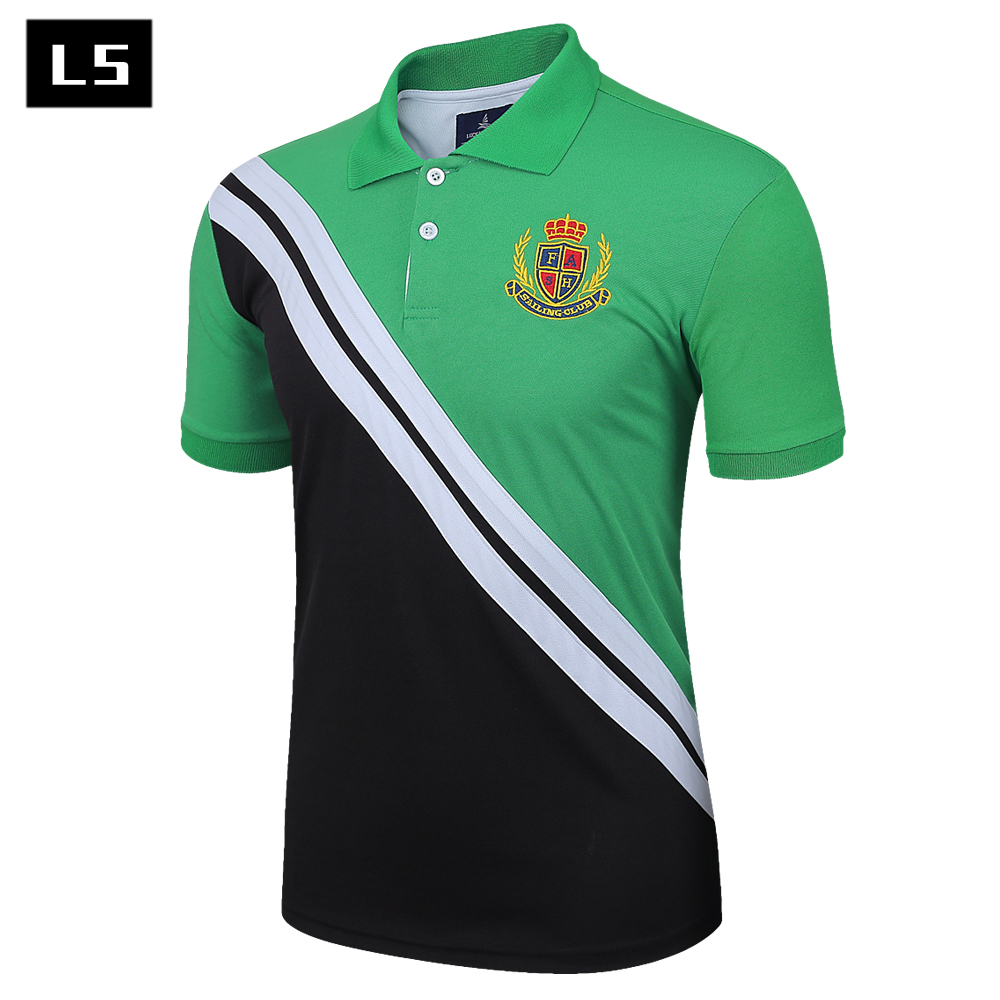 2015 new real camisa solid polo shirt mens fashion cool design short - New 2017 Men Summer Hot Sale Hit Color Stitching Cotton Short Sleeve Polo Shirt Men Designer Brand Clothing Shirts