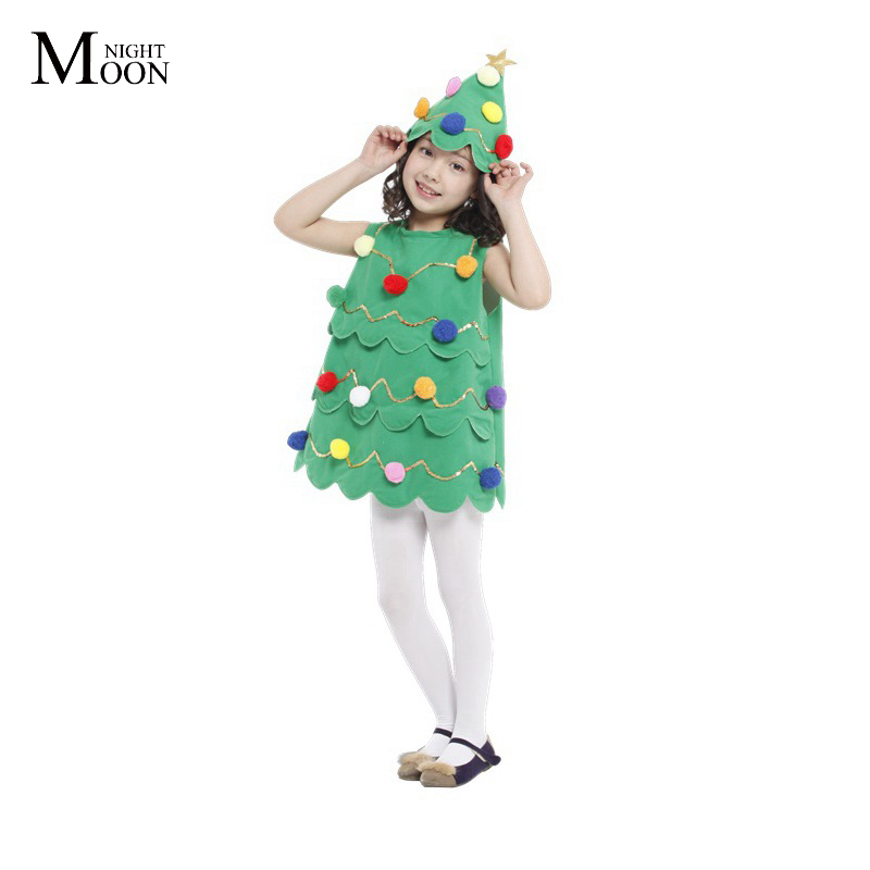 MOONIGHT Children's Performance Costumes, Cosplay Apparel Manufacturers Christmas Costume Christmas Tree Dress