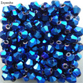 Popular Sale Hot Blue 100pcs 4mm Bicone Austria Crystal Beads charm Glass Beads Loose Spacer Bead for DIY Jewelry Making