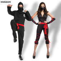 Lover Costumes Halloween Japan Masked Warriors Outfit Black Man And Woman Ninja Role Playing Costumes Cosplay