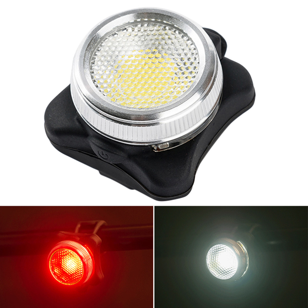COB LED Bicycle Bike Cycling Front Rear Tail Warning Light Lamp USB Rechargeable