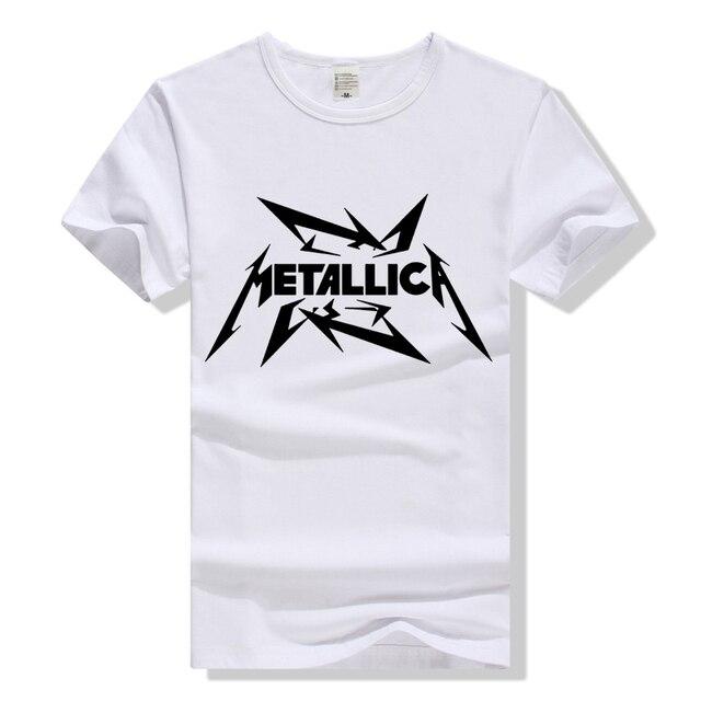 4d87cc2fec830 Camiseta da banda de rock metallica logotipo t shirt das mulheres dos  homens t-shirt