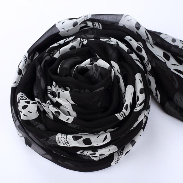 Новый 2016 высокое качество натурального шелка череп шарф женщины дамы шали и шарфы женский шарф зимы 195 * 65 см