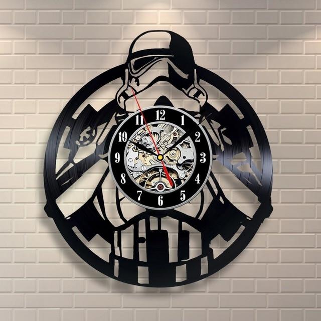 Stormtrooper Star Wars Vinyl Record Klok Muur Decor Thuis Ontwerp In