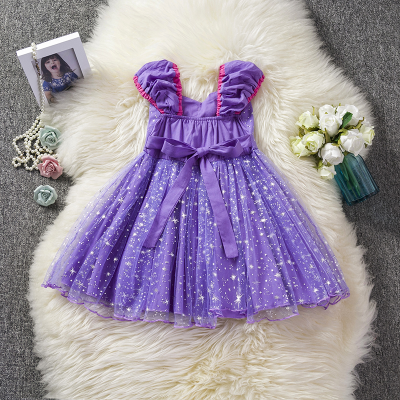 HTB1tCmgX7Y2gK0jSZFgq6A5OFXaD Infant Baby Girls Rapunzel Sofia Princess Costume Halloween Cosplay Clothes Toddler Party Role-play Kids Fancy Dresses For Girls