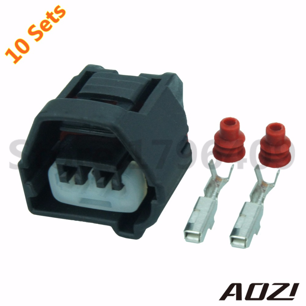 New Ten Sets Kit Waterproof 2 Pins 2.2mm Series Female Wire Harness  Connectors 7283-7023-10