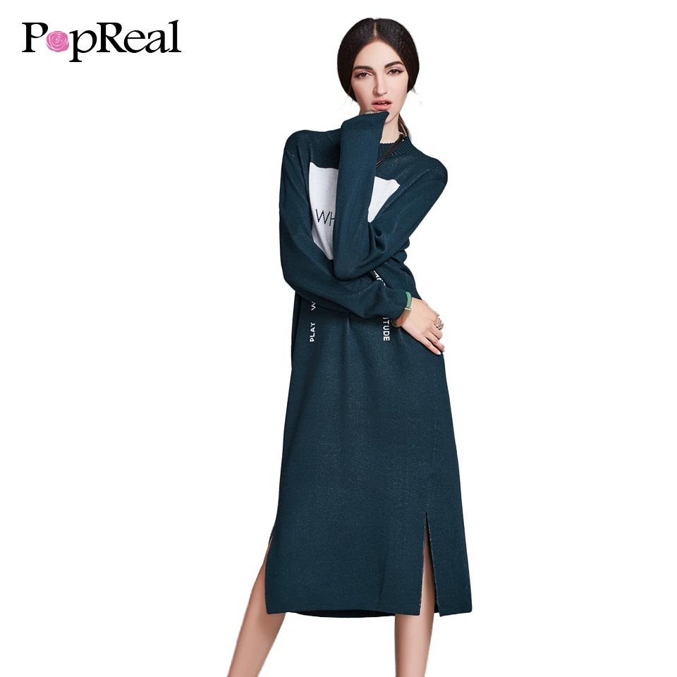 Popreal 2017 Women's Autumn Winter Casual dress Fashion ...