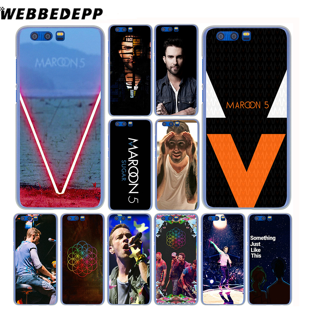 WEBBEDEPP Maroon 5 Coldplay Bands Case for Huawei Honor Mate 10 9 8 7X 6X 6C 6A Lite Pro Y3 Y5 Y6 Y7 2017 2018 ...