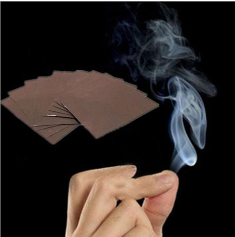 1PC Magic Prop Smoke From Finger Surprise Prank Joke Hell For Children Magicians Funny Smoke Mystical Magic Tricks Toys