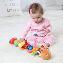 BABELEMI Baby Toy Musical Caterpillar Rattle with Ring Bell Cute Cartoon Animal Plush Doll Early Educational Toys 0- 12 Months(China)