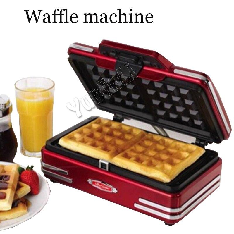 Home Mini Waffle Machine Electric Waffle Maker Breakfast Waffle Machine DIY Waffle Baking Machine Baking Pan 750W220V