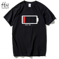 HanHent Fashion Battery Design Short Sleeve Shirt T Shirts Men S Summer Wear New Printed Cotton