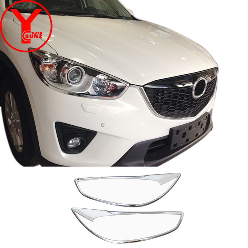 chrome headlight head light cover For mazda cx-5 cx5 2013 2014 2015 2016 car styling parts accessories for mazda cx5 2016 YCSUNZchrome headlight head light cover For mazda cx-5 cx5 2013 2014 2015 2016 car styling parts accessories for mazda cx5 2016 YCSUNZ