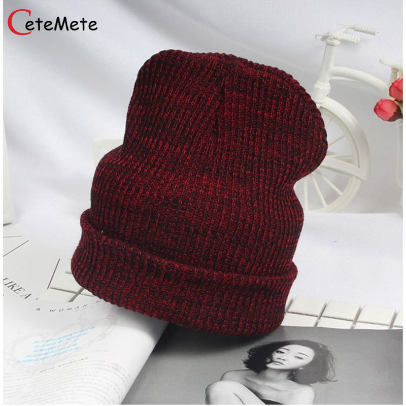 2017 Female Hat Beanies Style Wool Knit Hat Hip Hop Winter Warm Caps For Unisex Snow Cagoule Moto Cap Skullies Bonnet wool felt cowboy hat stetson black 50cm