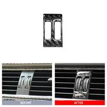 Interior de Fibra De carbono Consola Central Air Vent Saída Tampa Guarnição Interior Do Decalque Adesivo Para Audi A4 B8 2009-2016 /A5 08-17/Q5 09-17