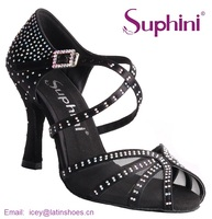 Free Fast Shipping Spain 2017 Suphini Woman Dance Shoes Crystal Salsa Shoes Soft Latin Shoes NEW