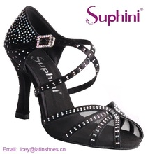Free Fast Shipping Spain 2017 Suphini Woman Dance Shoes Crystal Salsa Shoes Soft Latin Shoes NEW ARRIVAL Latin Dance Shoes