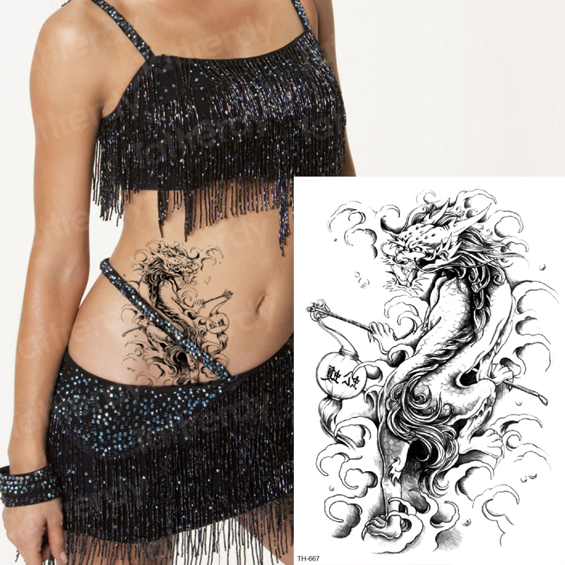 Sexy Temporary Tattoo For Girls Sketches Tattoo Designs Black Body