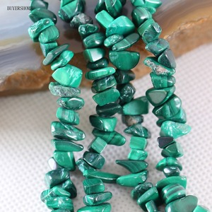 """5-8MM Irregular Shape Freeform Chip Natural Stone Loose Beads Green Malachite For Jewelry Making DIY Necklace String 35"""" S001"""