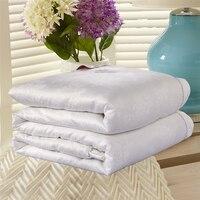 Luxus 100% Maulbeereseide/Natur Seide Tröster Abdeckung eingestellt einzigen doppel/König Rosa Weiß Decke Quilt Für Winter/herbst/Sommer