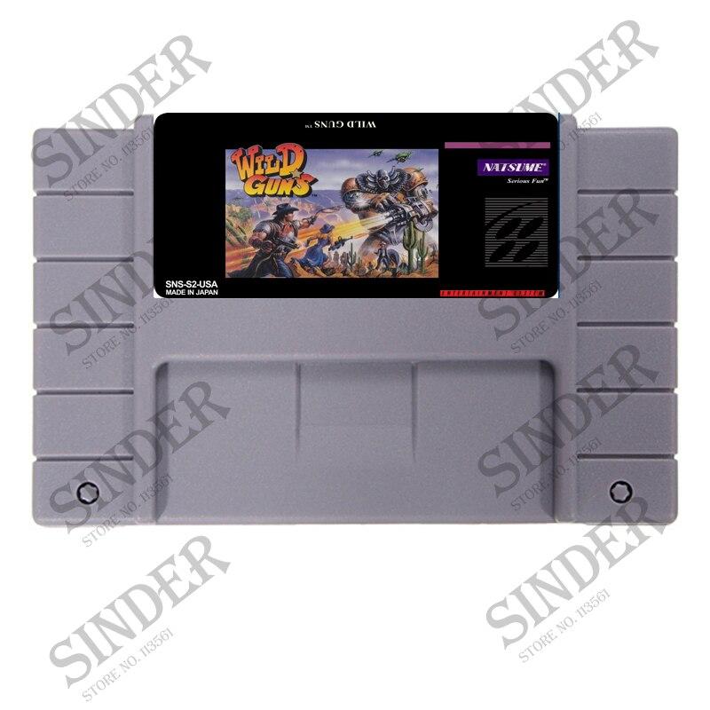 Wild Guns 16 bit tarjeta Super juego para ee.uu. NTSC jugador del juego