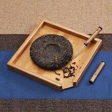Pu'er Tea bamboo tea box box zero partition tray wood Kung Fu tea cone needle knife accessories