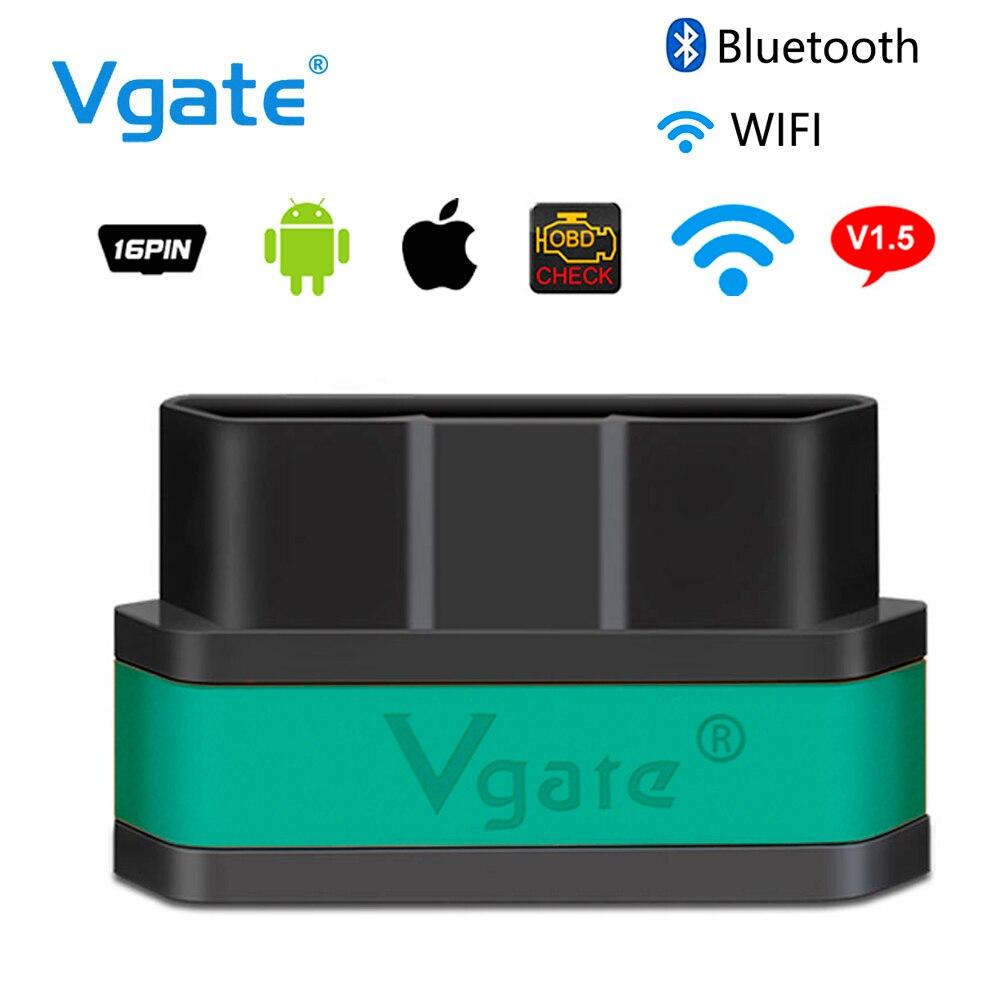 Vgate Icar2 ELM327 Bluetooth/WiFi OBD2 Auto strumento di Diagnostica OBD 2 Scanner Mini ELM 327 wifi per Android/ PC/IOS Lettore di Codice
