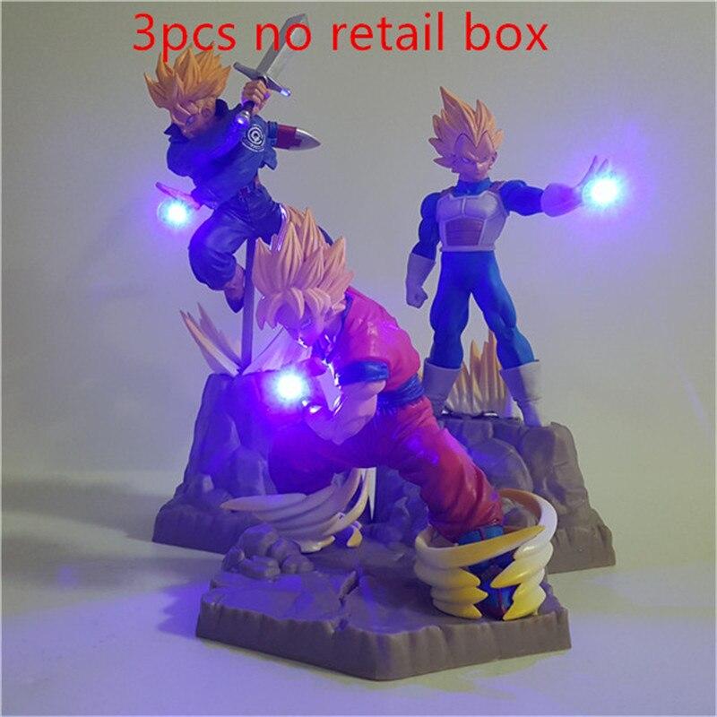 Lampara Dragon Ball Z Goku Vegeta trunks Супер Saiyan игрушки аниме Dragon Ball настольная лампа декор Освещение Сон Гоку светодиодный ночник - Испускаемый цвет: changeable
