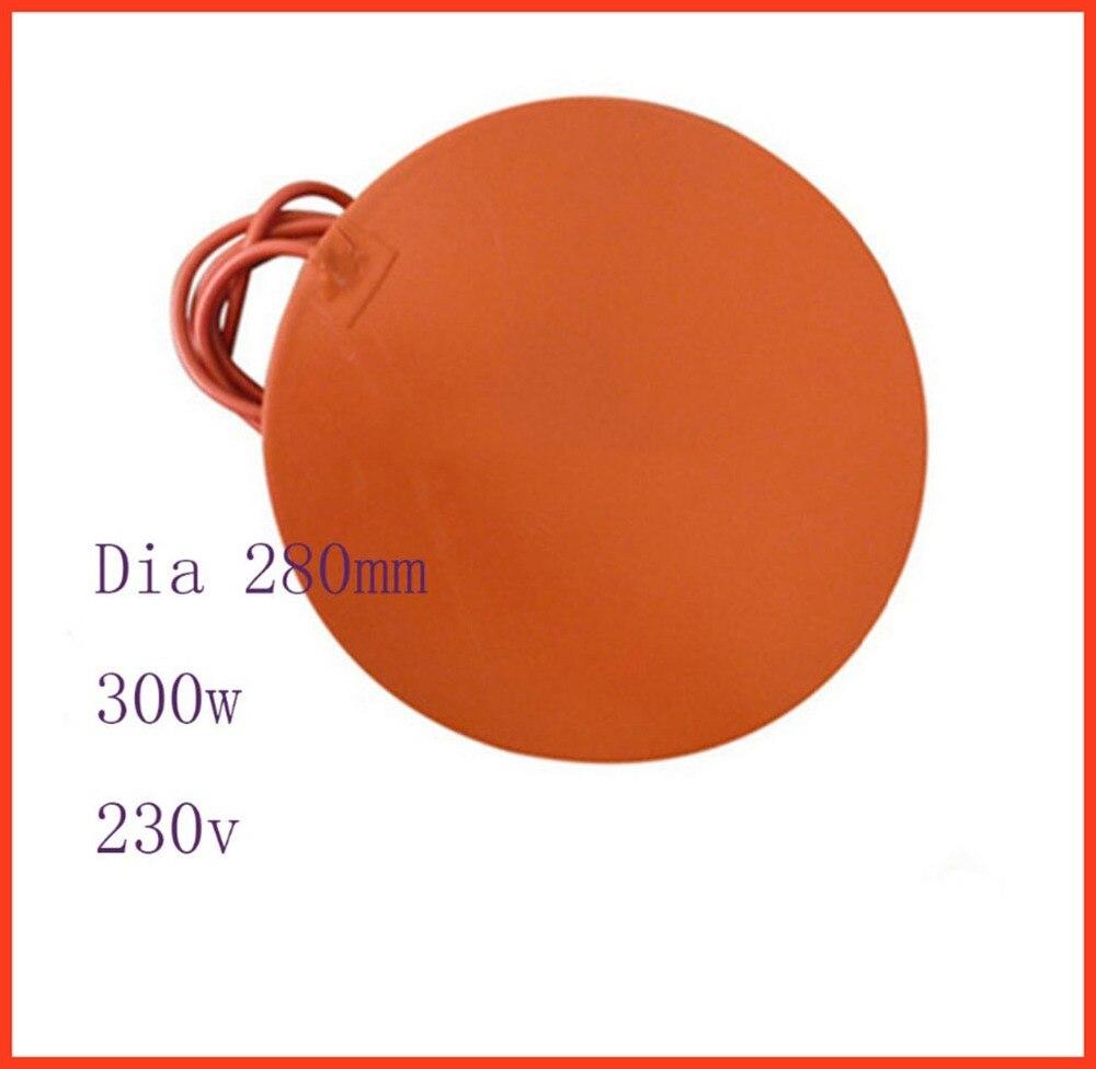 Stampante 3d letto riscaldato 280mm 230 v 300 W silicone coussin chauffant flexible chauffage silicone lit chauffant silicone imprimante électrique