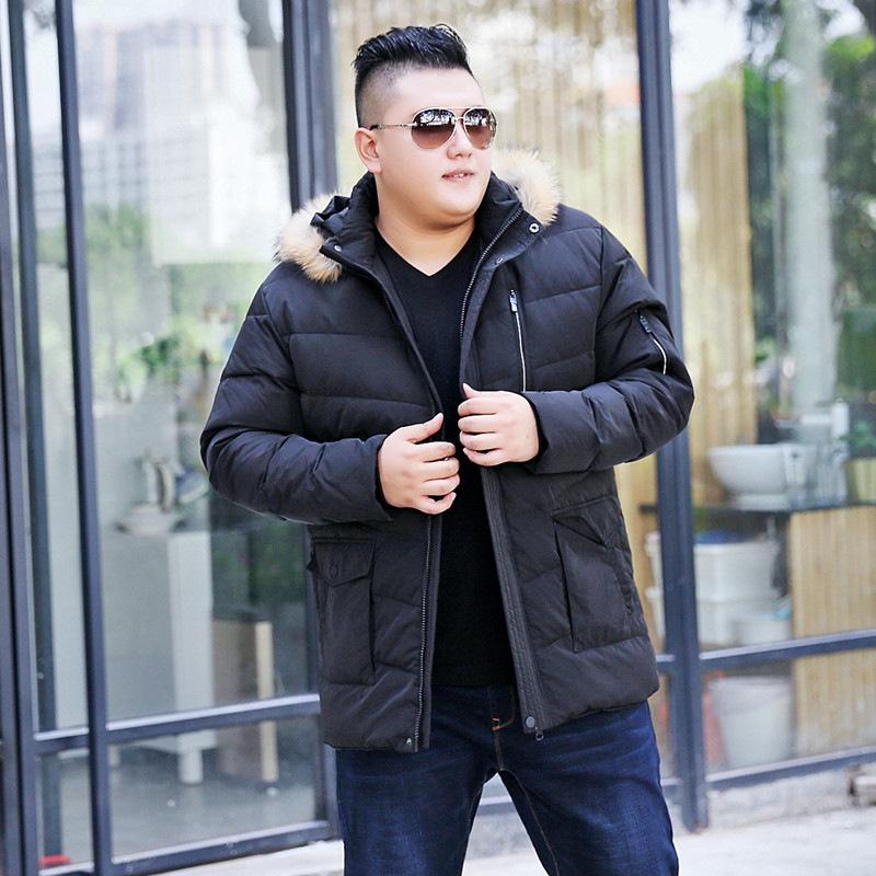 2017 winter new mens large size Removable cap stand-collar down jacket fashion male warm casual coat