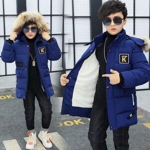 Image 1 - 2019 odzież dziecięca chłopięca 12 14 dzieci Winte parka 15 puchowa kurtka bawełniana pogrubienie 10 odzież wierzchnia i płaszcze odzież 30 stopni