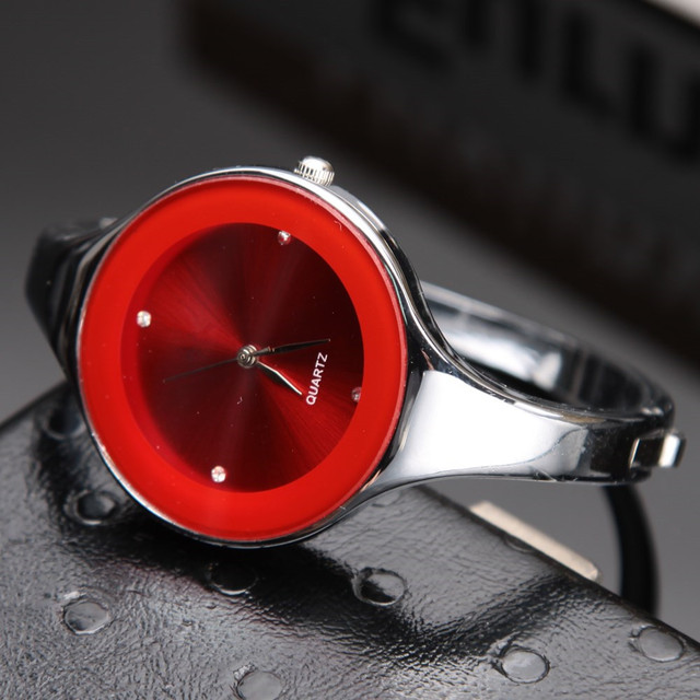 5 Colors Women Watch Brand Kimio Stainless Steel Bangle Watch Quartz Simple Casu