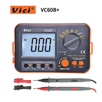 VICI VC60B+ Digital Insulation Resistance Tester LCD 1000V Megger Insulation 0 2000M Ohm High Voltage Short Circuit Input Alarm