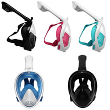 Full Face Diving Mask Seaview 180 Snorkel Panoramic Set Mount Women Men Kids Swimming Equipment