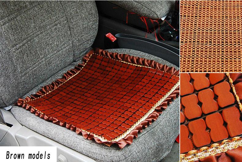 Cojín del asiento del asiento de automóvil de bambú abalorios de - Accesorios de interior de coche - foto 3