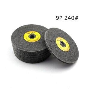 Image 5 - 10 pcs 150*6mm 7 p 12 p 부직포 unitized 휠 180 #240 #400 # 스테인레스 스틸 디버링 연마 용