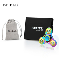 EEIEER Fidget Spinner Focus Finger Toy Stress Reducer for Kid and Adult Easy Flick Hands Spinner Toy Perfect For Anxiety, Autism