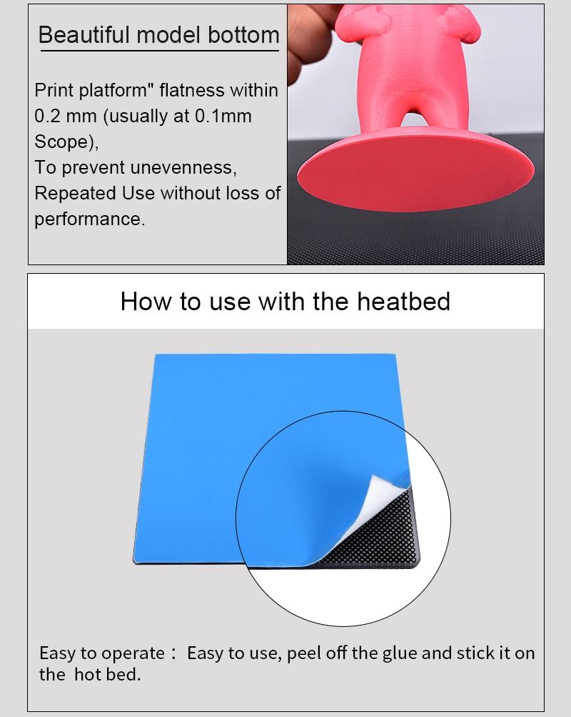 Детали для 3D-принтера, ультрабук, тепловая платформа, сборка поверхности, стеклянная пластина 310x310x4 мм для Ender-3 MK2 MK3, наклейка на горячую кровать