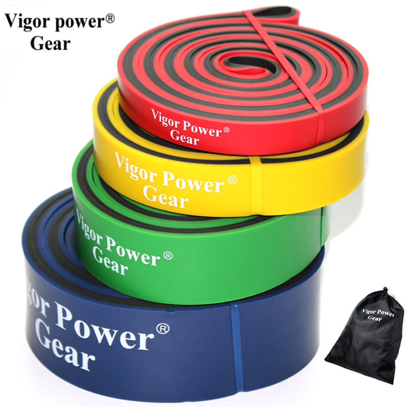 VigorPowerGear Dual Color Latex Resistance Bands Pull Up
