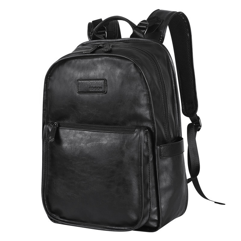 drop shipping 2019 large capacity 15 6 inch laptop backpack men leather backpacks for teenager Men